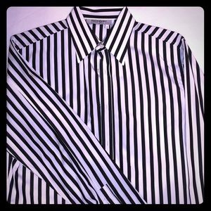 YSL Men's Striped Shirt. French Cuff. Size S.